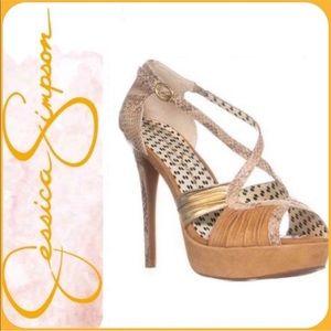 Jessica Simpson Brouge Snakeskin High Heel Sandals